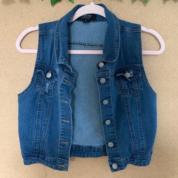 Vintage Jackets & Blazers - LOWBALLS ACCEPTED - denim vest